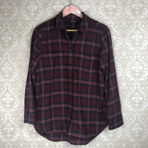 d93417aa2d8 Madewell Tops - NEW Madewell Flannel Classic Ex-Boyfriend Shirt